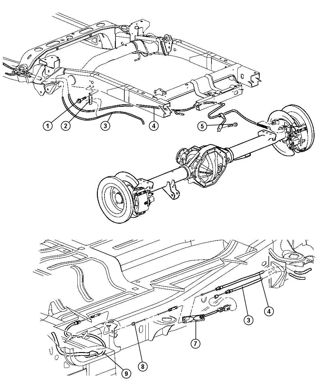Dodge Ram Tensioner Parking Brake Cable Cablesrear