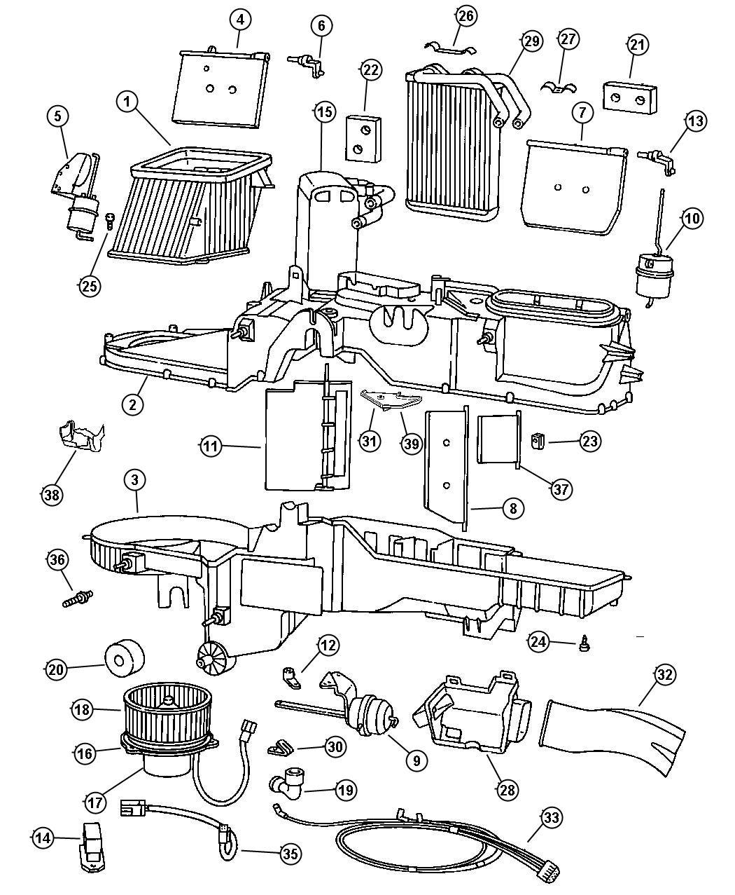 Dodge Ram Actuator Heater Vent Defrost Ventdefrost