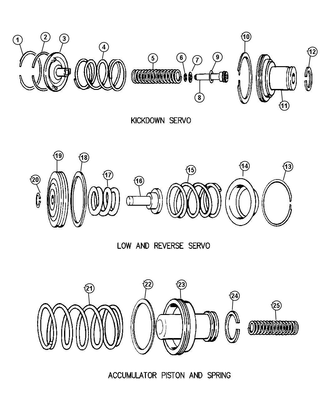 Dodge Ram Retainer Transmission Reverse Servo Piston