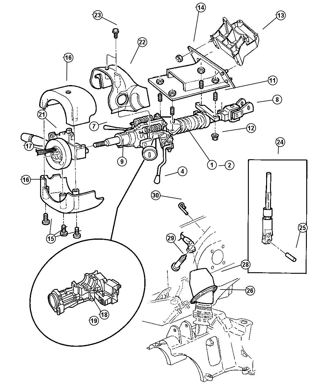 Loose Tilt Steering Wheel On A Chrysler Voyager How To Fix