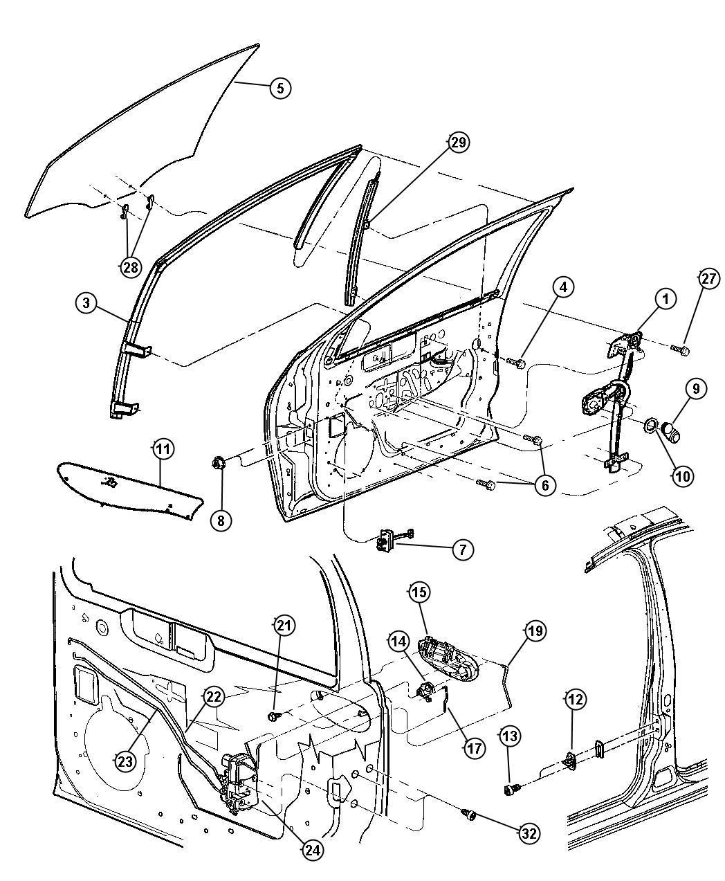 Service Manual Dodge Neon How To Replace Door Handel