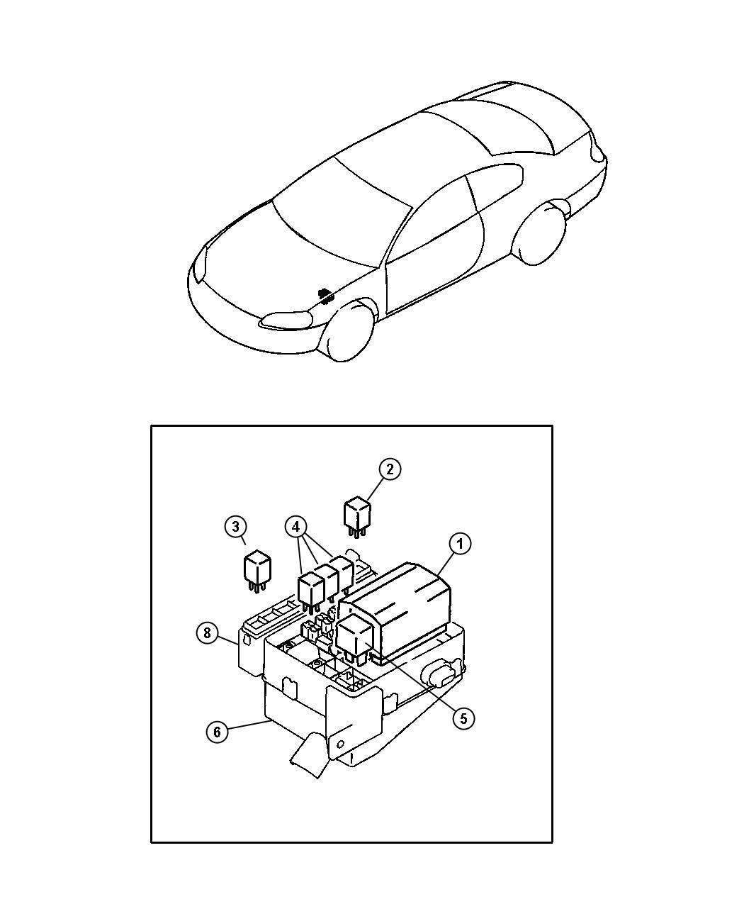 Chrysler Sebring Block Relay