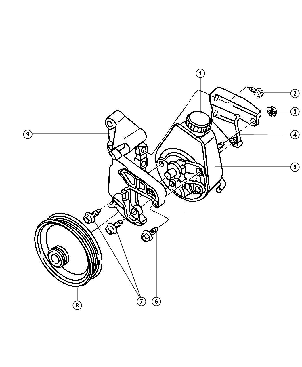 Dodge Ram Bolt Hex Head M10x1 50x28 Mounting