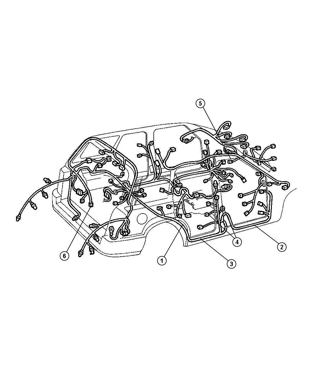 Dodge Nitro Wiring Steering Wheel Trim O0
