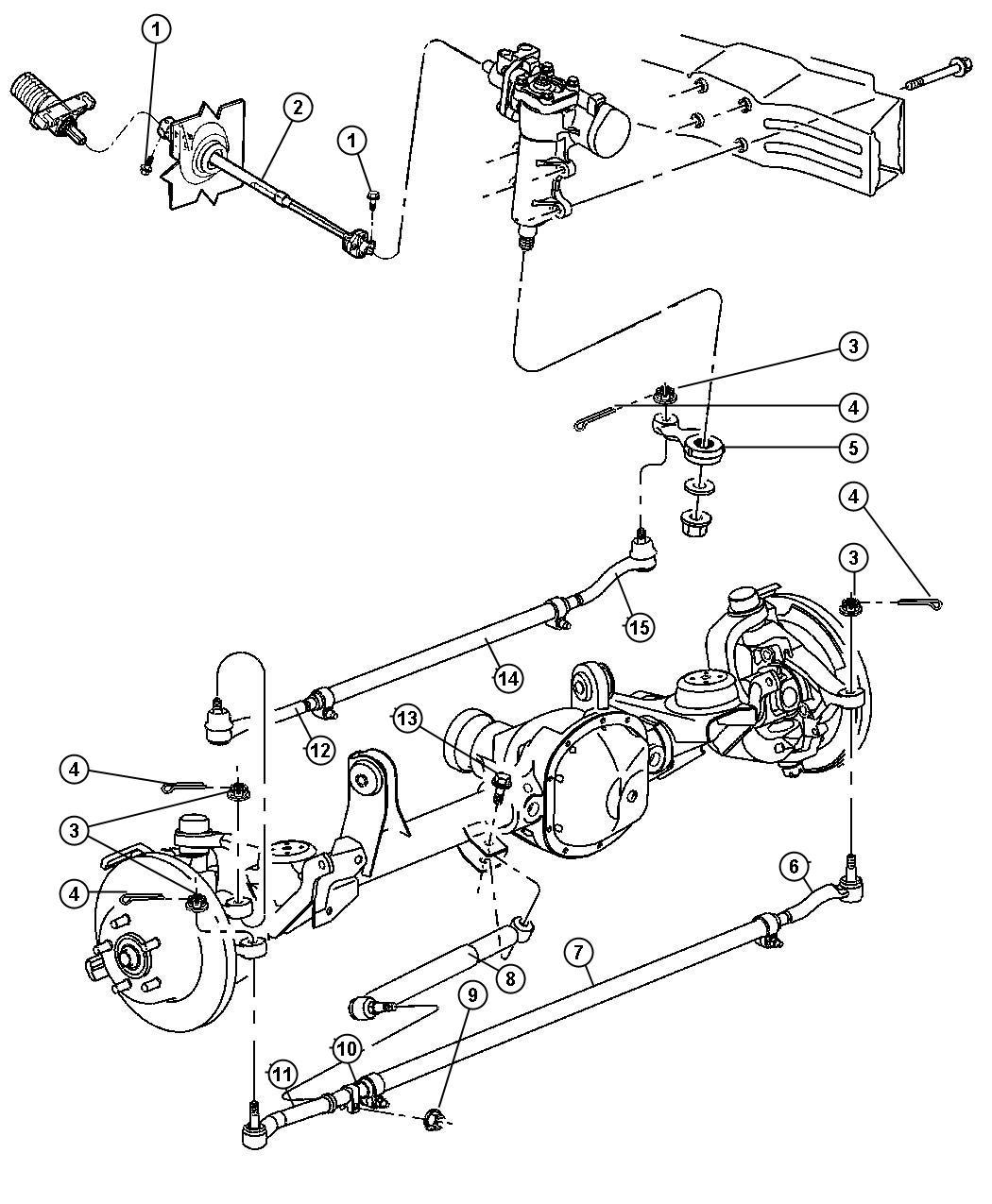 Jeep Grand Cherokee Socket Tie Rod Drag Link Pitman