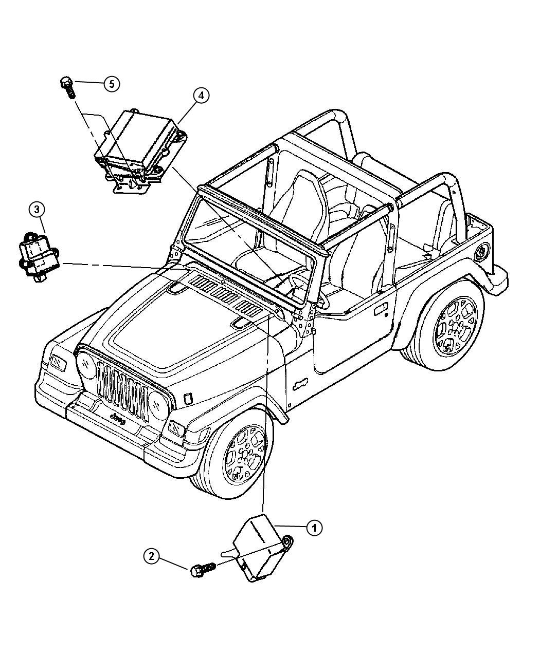 Jeep Wrangler Module Daytime Running Lamp