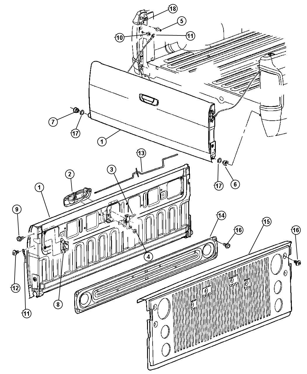 Dodge Ram Tailgate Part Diagram Dodge Free Engine