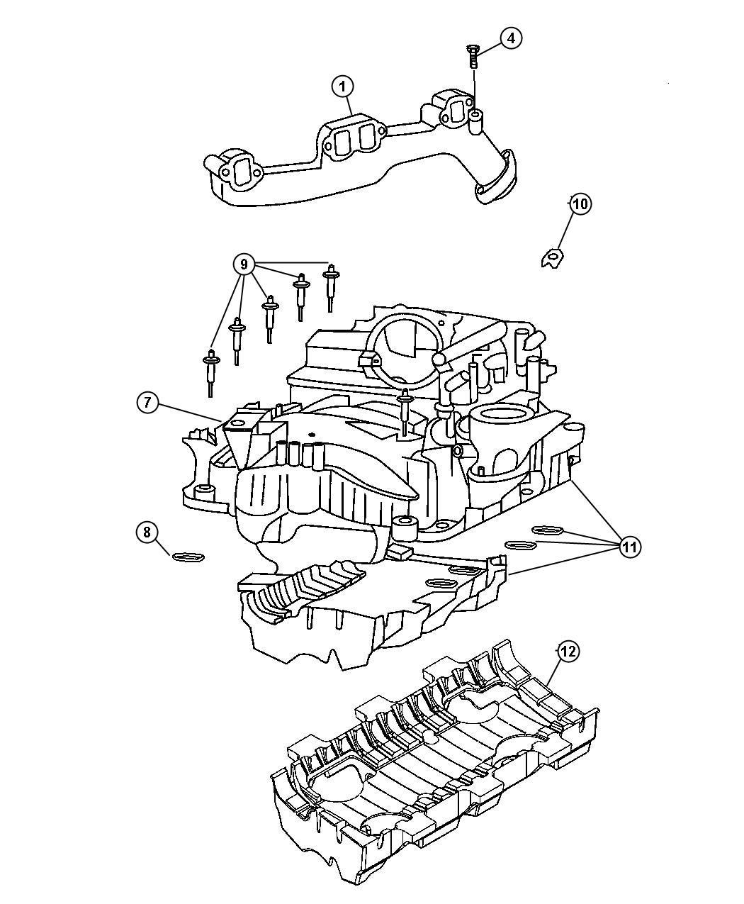 Dodge Ram Manifold Right Exhaust Mega Cab Quad