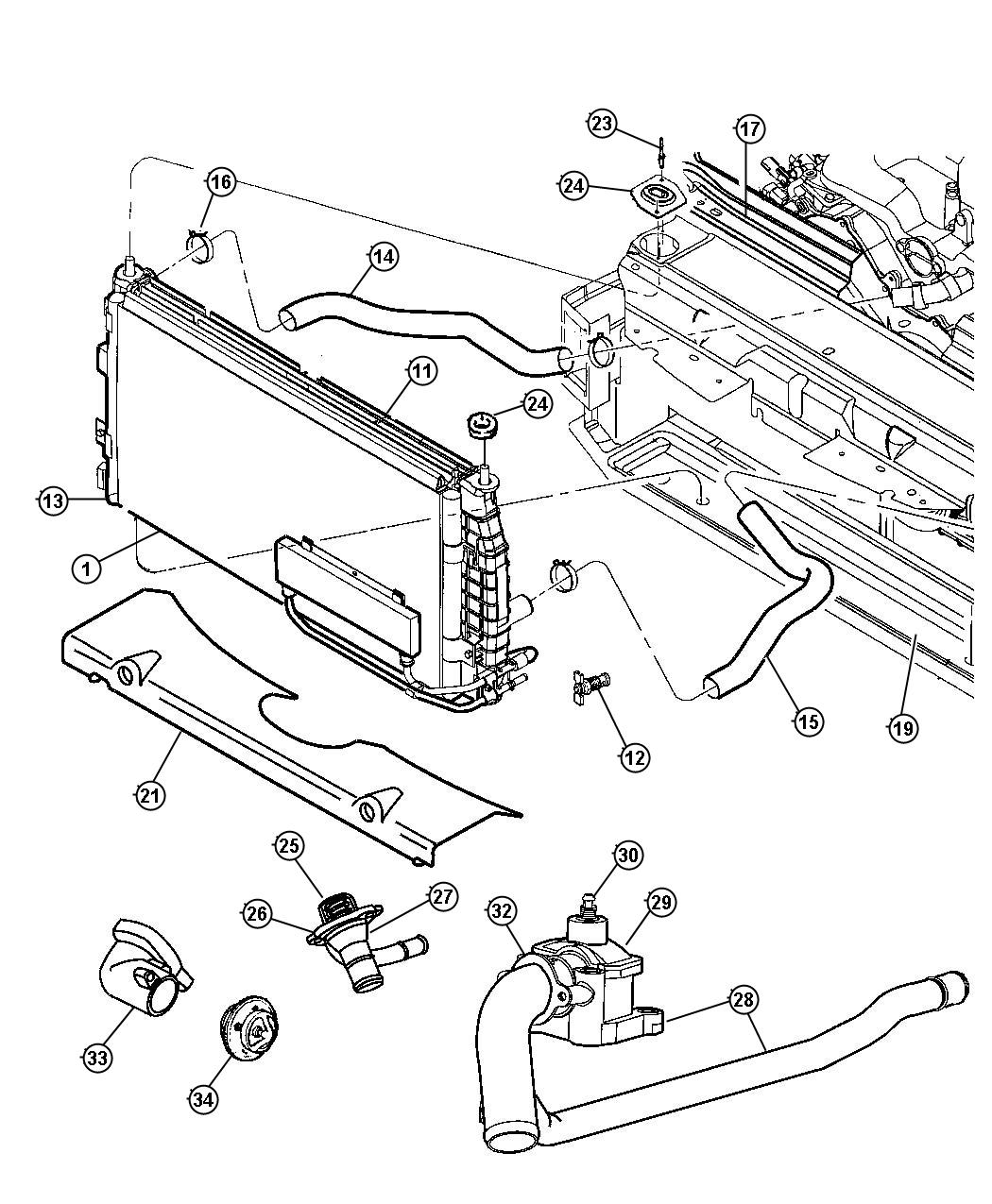 Dodge Intrepid Es Radiator And Related Parts