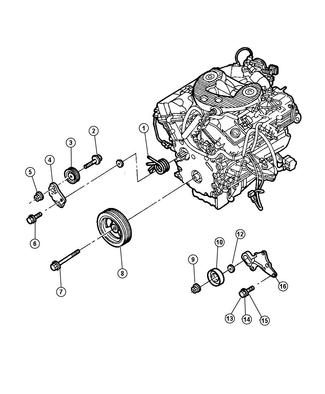 Dodge Intrepid Drive Pulleys 2 7l Engine