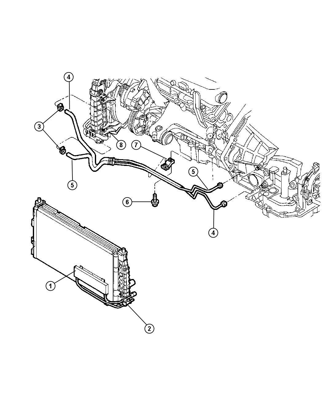 Dodge Intrepid Clamp Hose Oil Cooler Heater