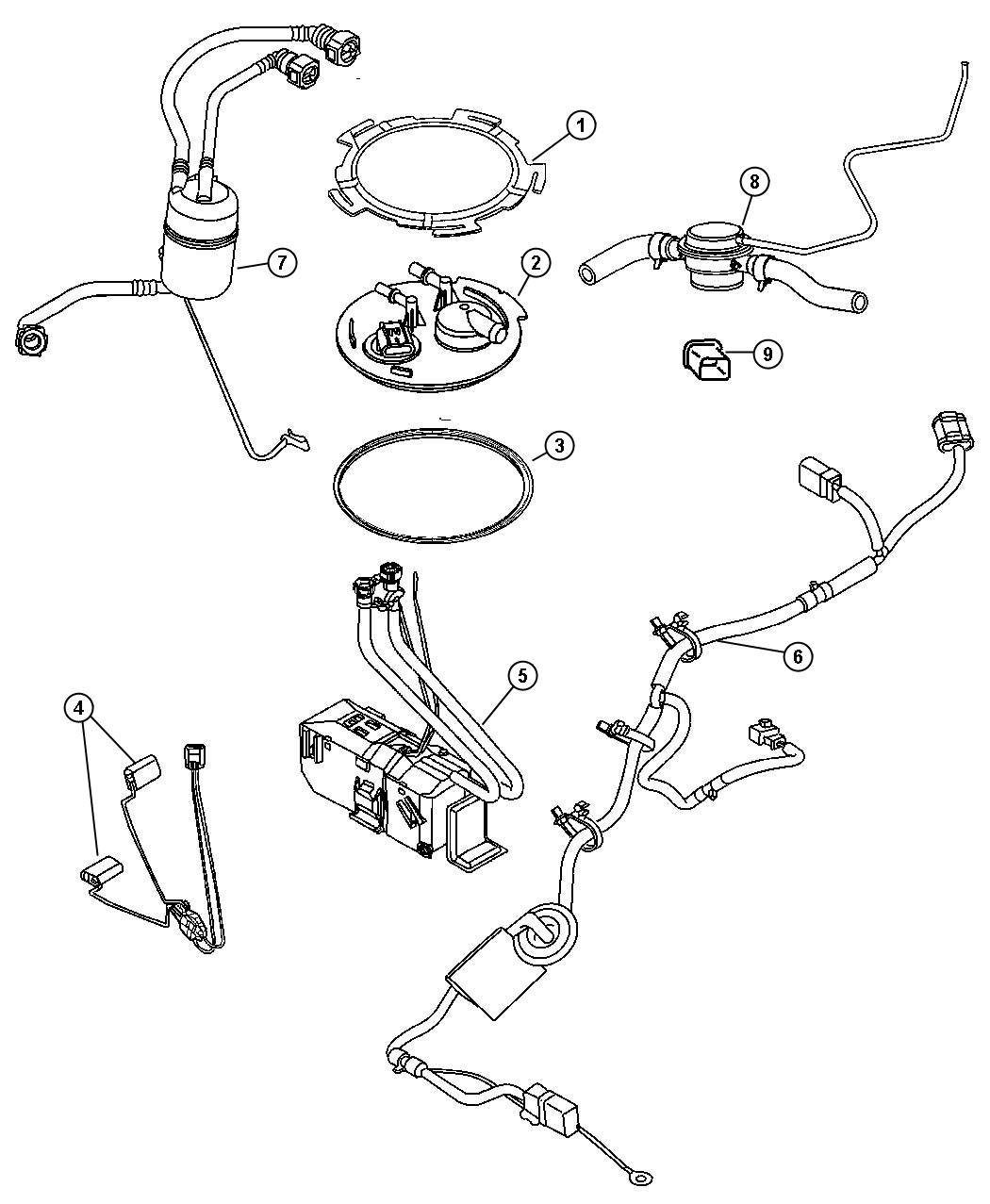 Jeep Liberty Flange Package Fuel Fuel Pump Flange And