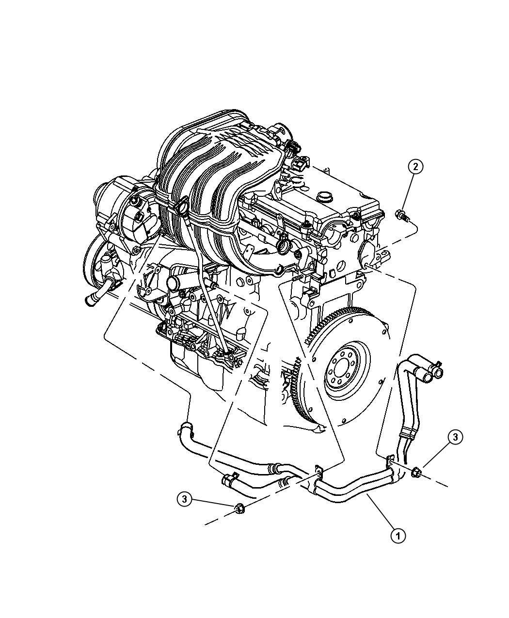 Jeep Liberty Plumbing Heater 2 4l Engine Lhd