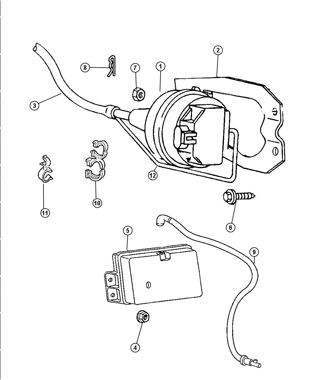 Dodge Ram Harness Assembly Vacuum Insulator