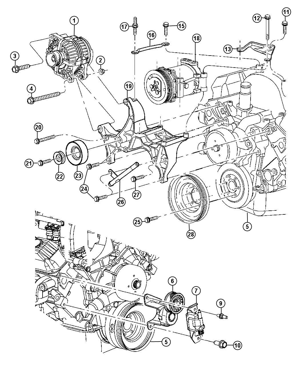 Dodge Dakota Alternator Amp Alternator Mounting All V6