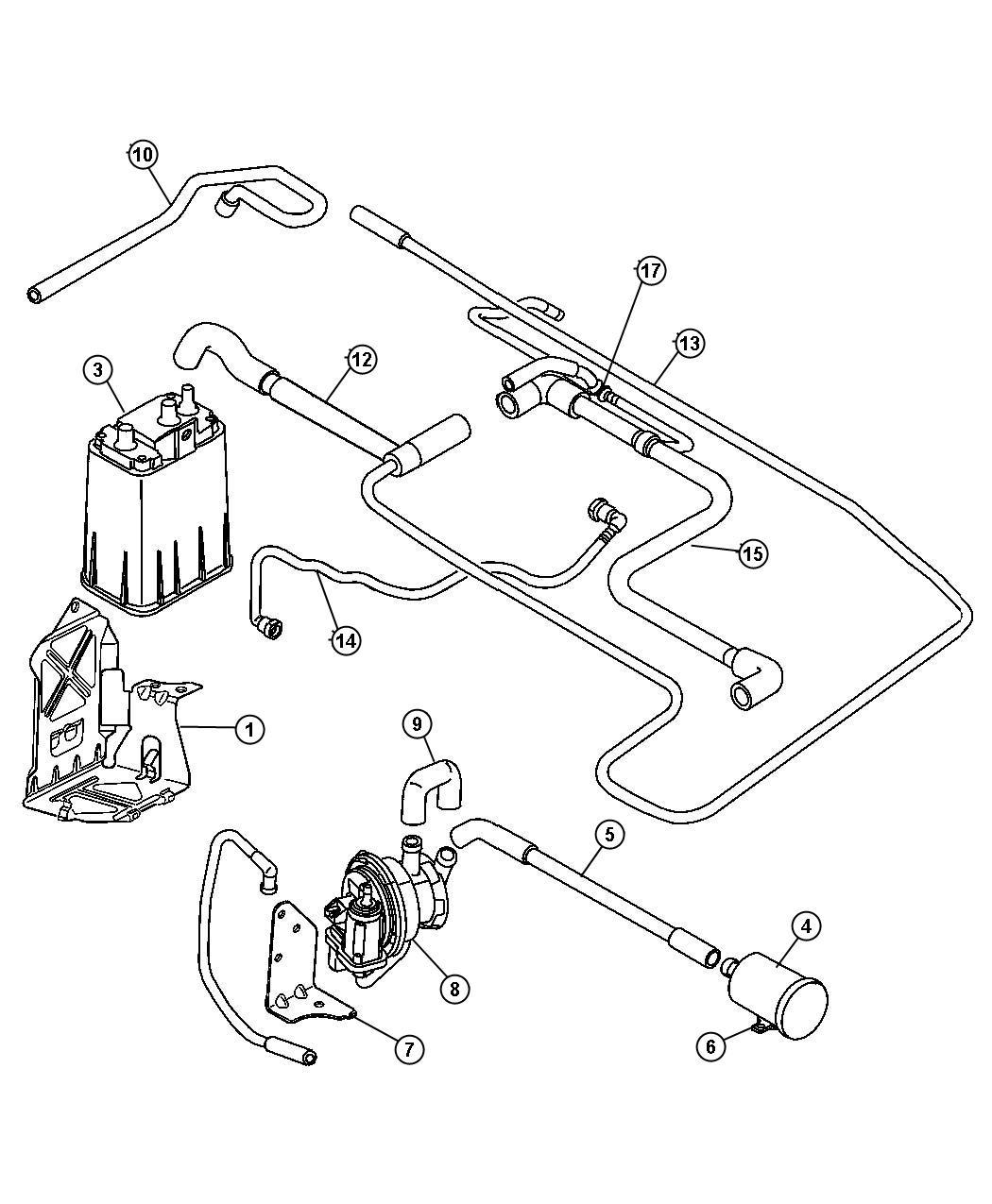 Chrysler Pt Cruiser Detector Natural Vacuum Leak