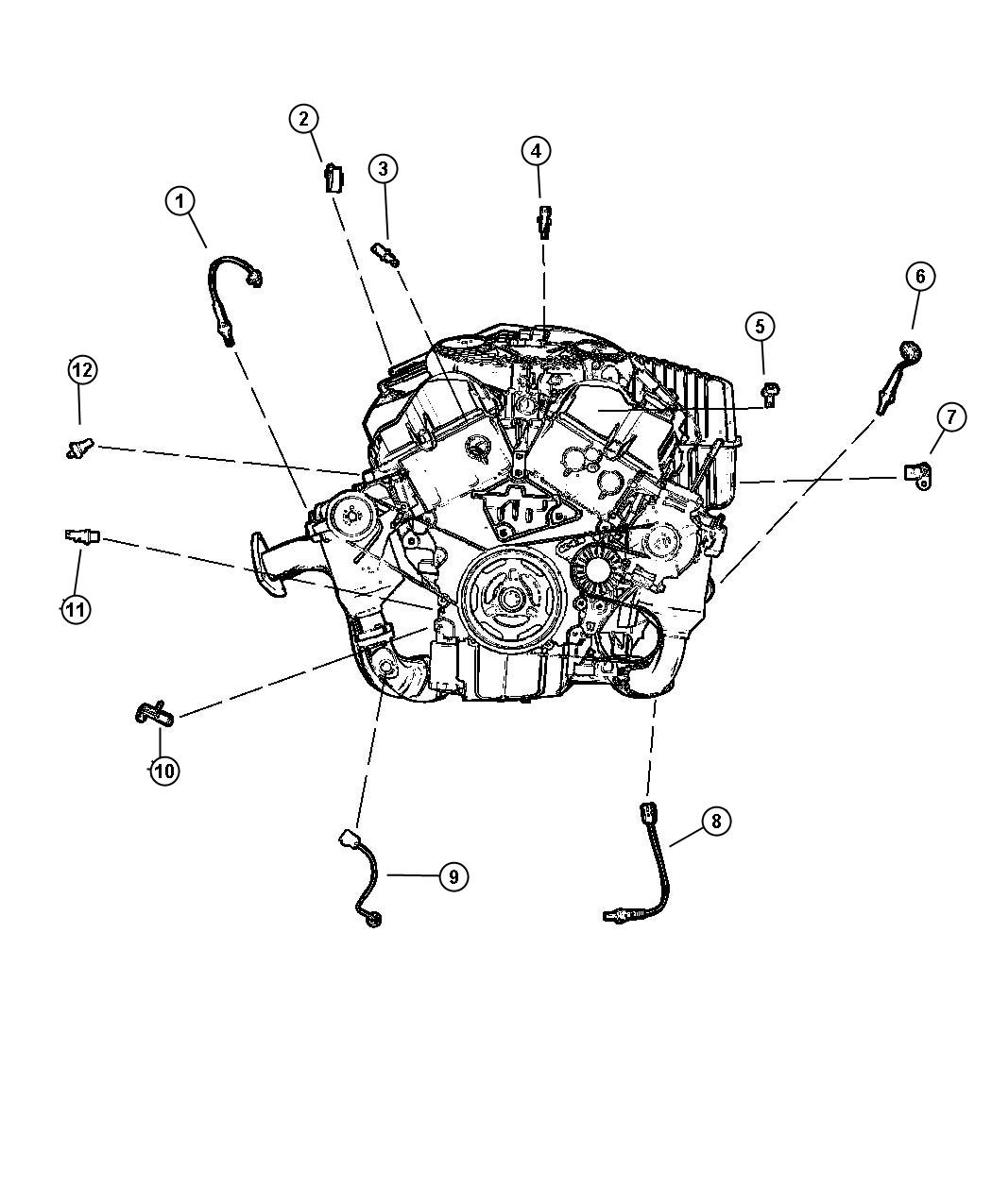 Dodge Stratus R T Sensors Engine 2 7 Eer