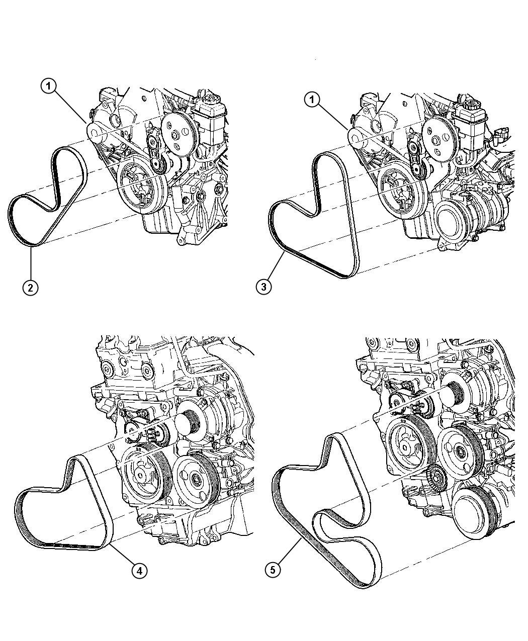 Dodge Neon Belt Accessory Drive Without Air Conditioning