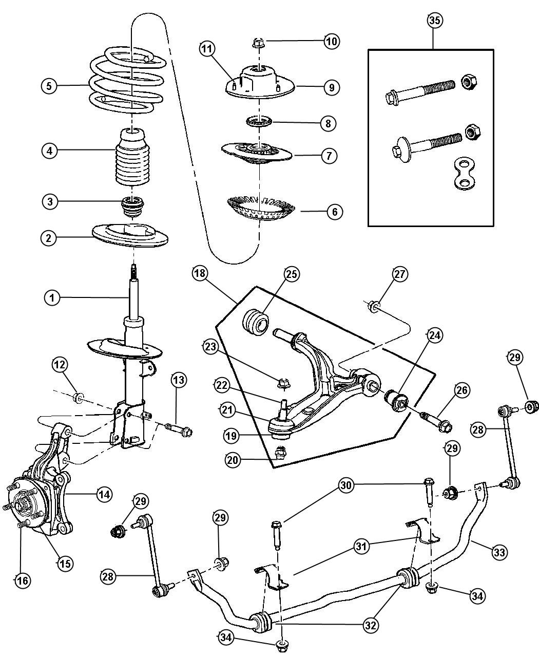 Dodge Magnum Rear Suspension Diagram