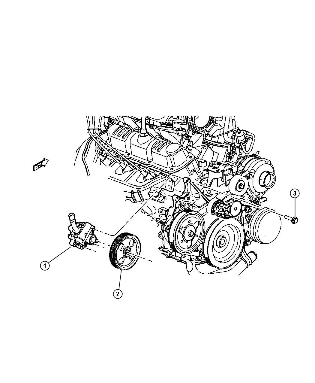 Power Steering Pump 3 3l 3 8l Engine