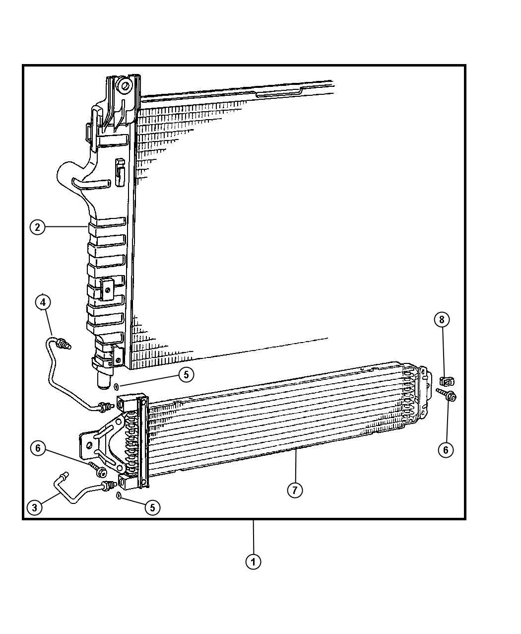 Dodge Ram Radiator Engine Cooling Nms