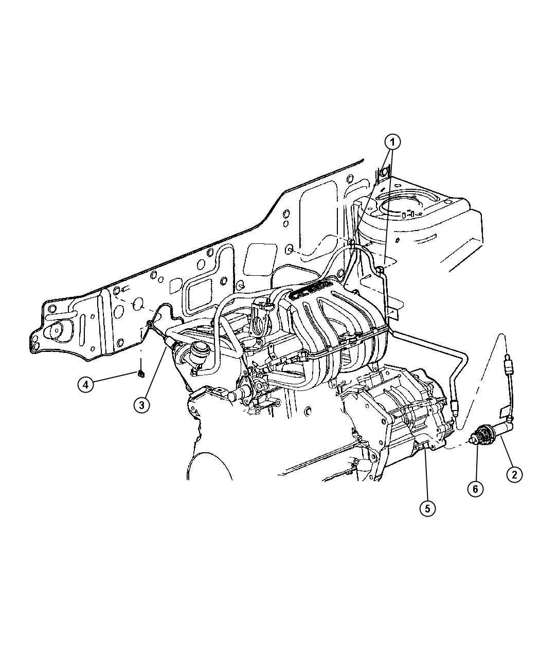 Dodge Viper Clip Accelerator Cable Stud