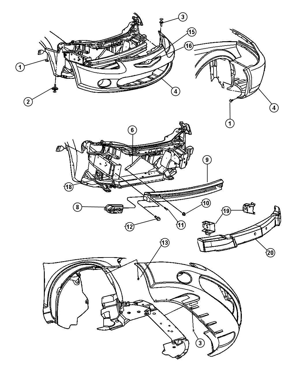 Chrysler Sebring Bumper Removal