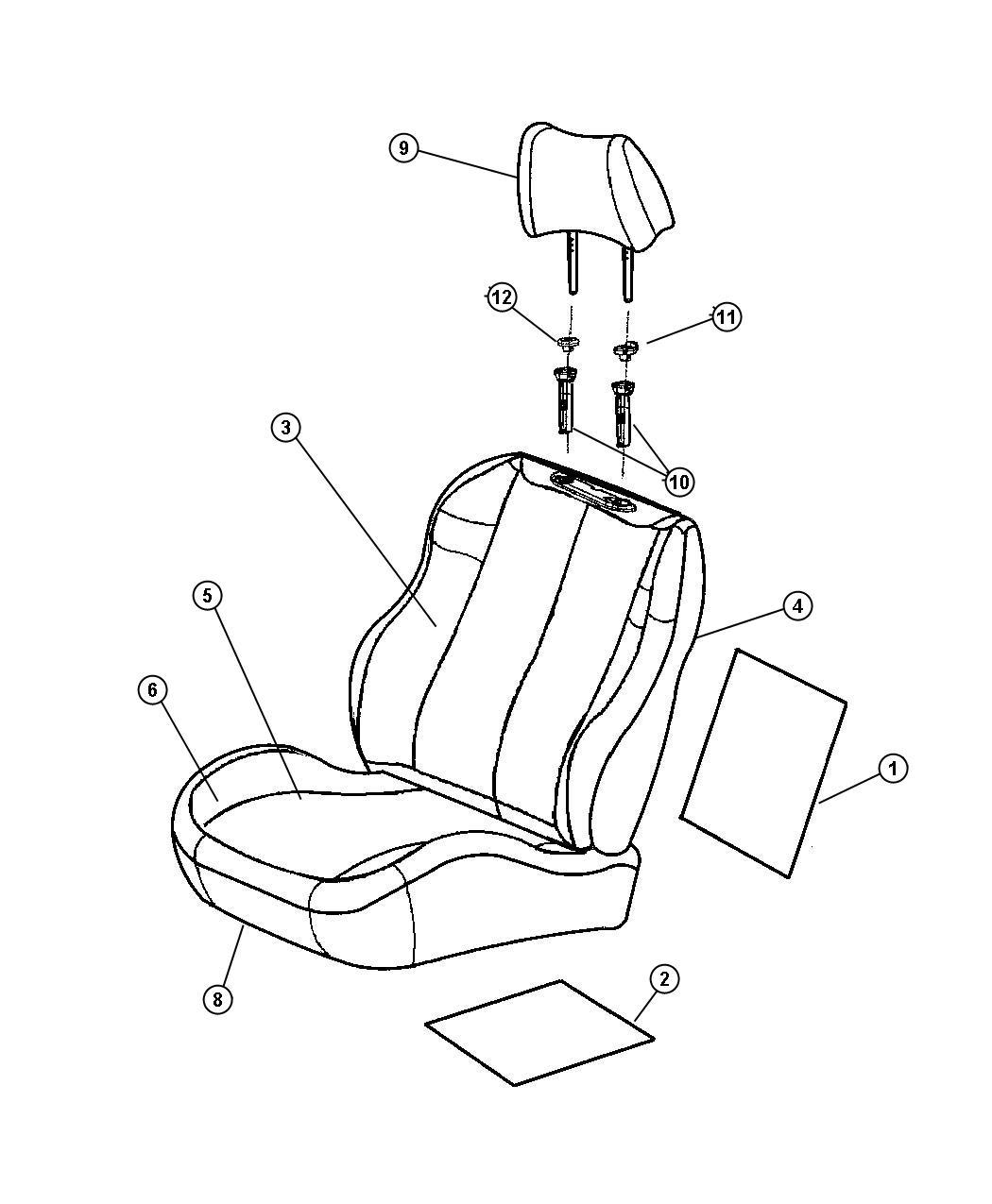 Dodge Charger Foam Left Seat Cushion Trim Xl