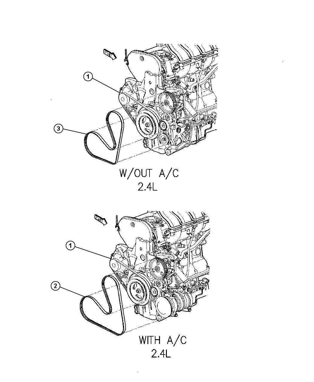 Chrysler Pt Cruiser Belt Power Steering Power