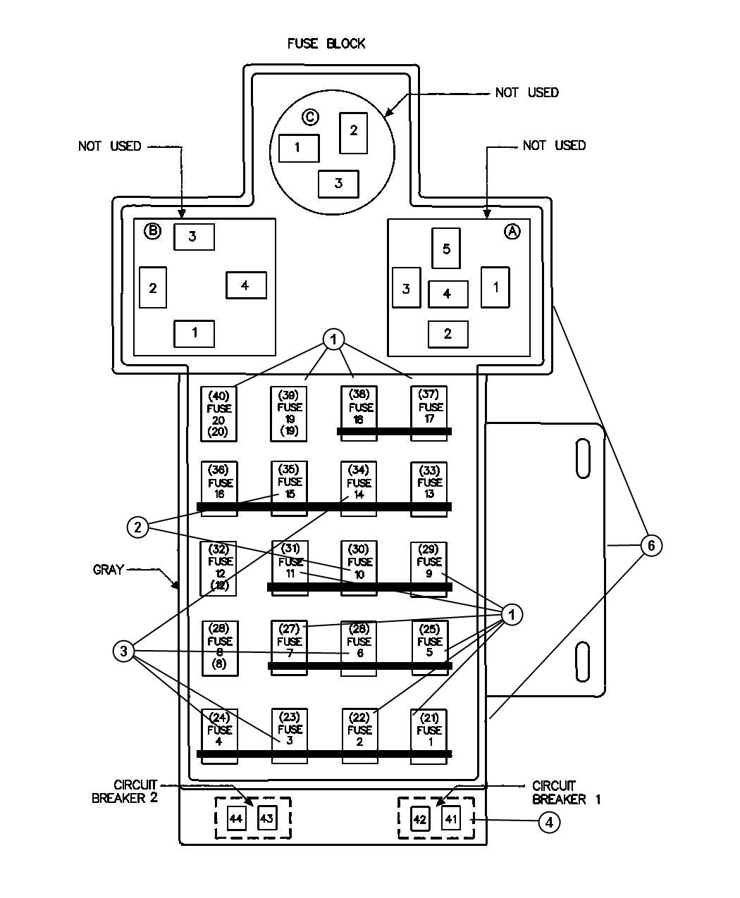 Jeep Wrangler Breaker Circuit 20 Amp 20 Amp Fuse Base