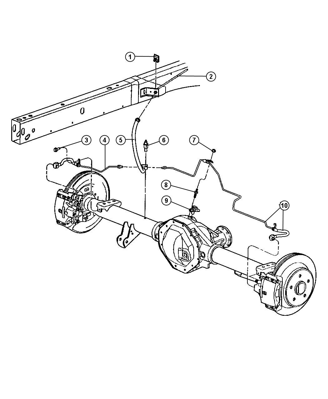 Lines And Hoses Brake Rear With Rear Disc Brakes