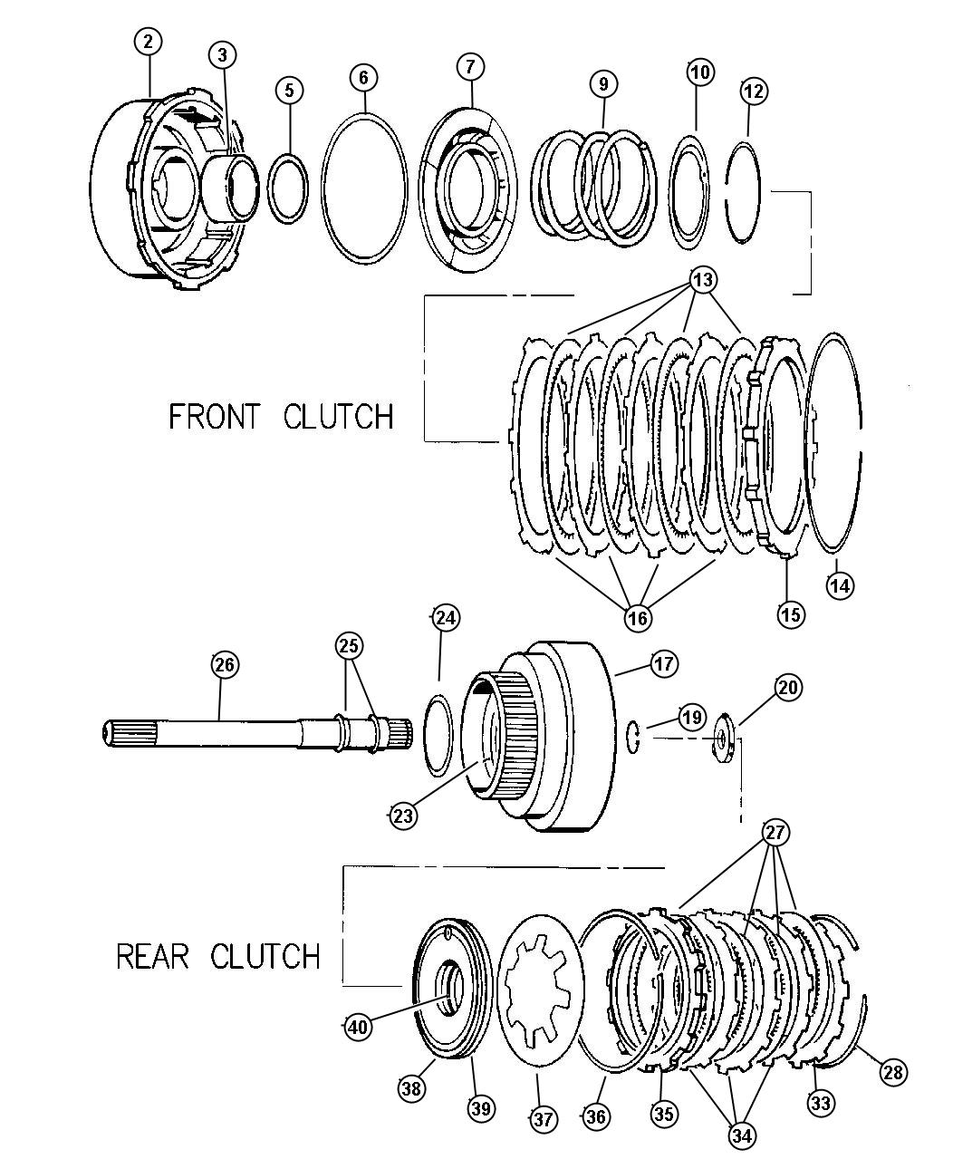 Dodge Dakota Ring Seal Input Shaft Transmission