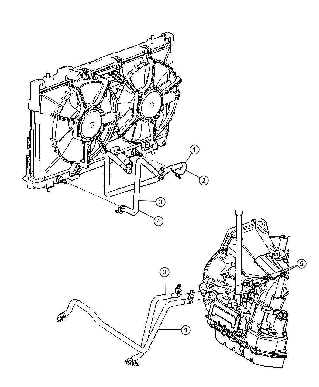 Dodge Neon Hose Transmission Oil Pressure
