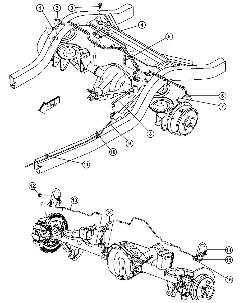 Jeep Wrangler X Brake Lines And Hoses Rear Lhd With Abs