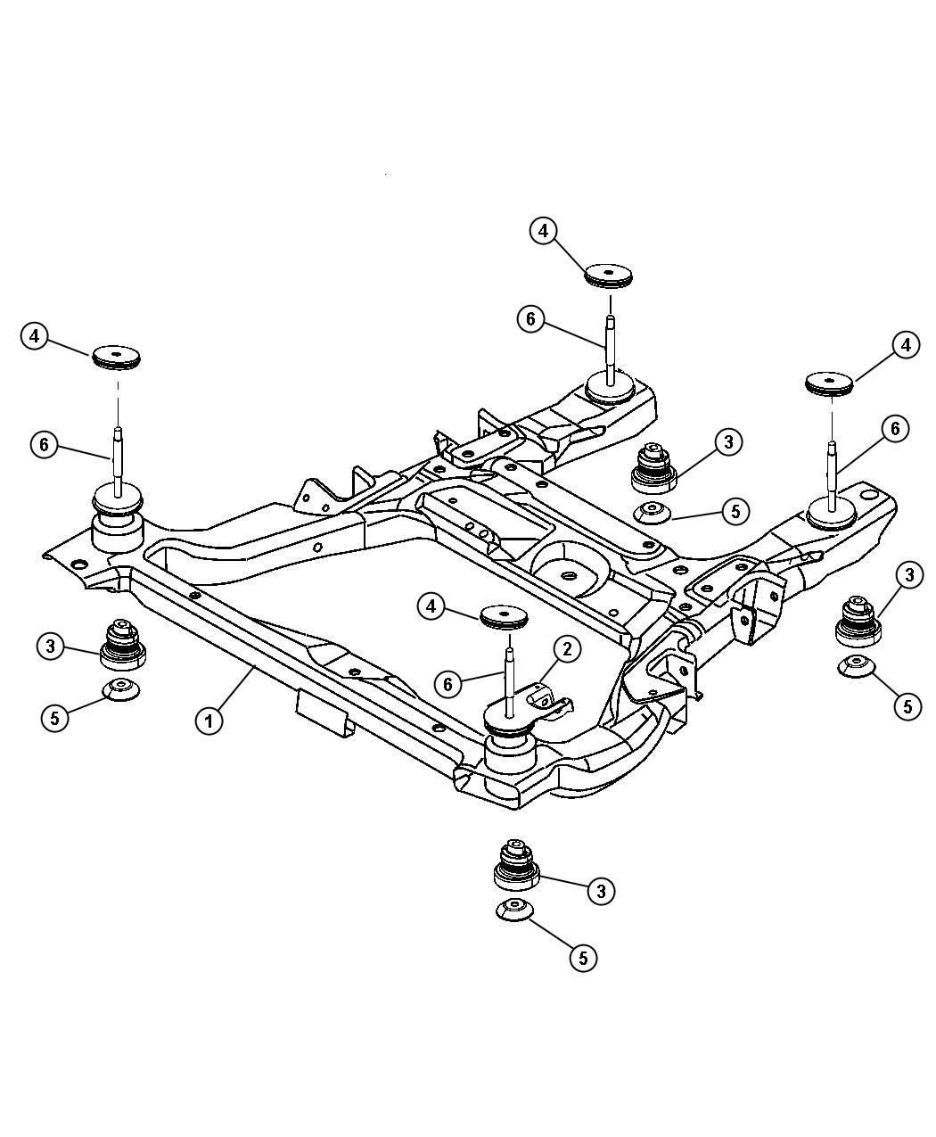 Chrysler Pacifica Isolator Cradle Crossmember Rebound