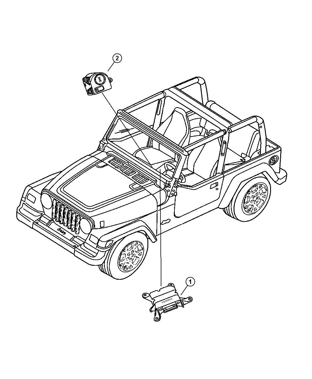 Jeep Wrangler Switch Passenger Airbag Disarm Air