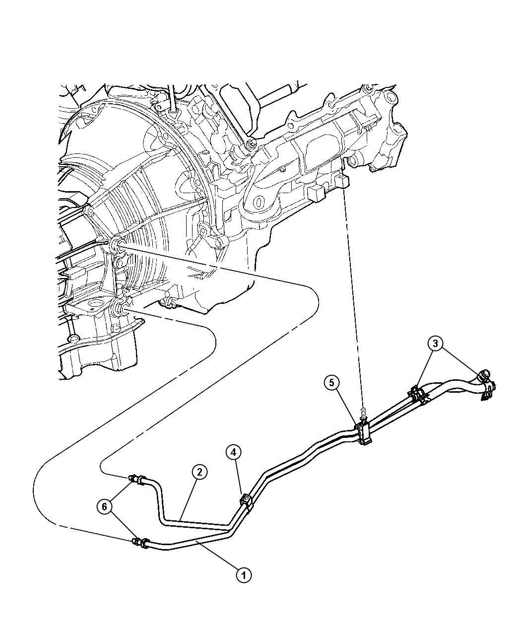 Chrysler Pt Cruiser Clip Oil Cooler Tube