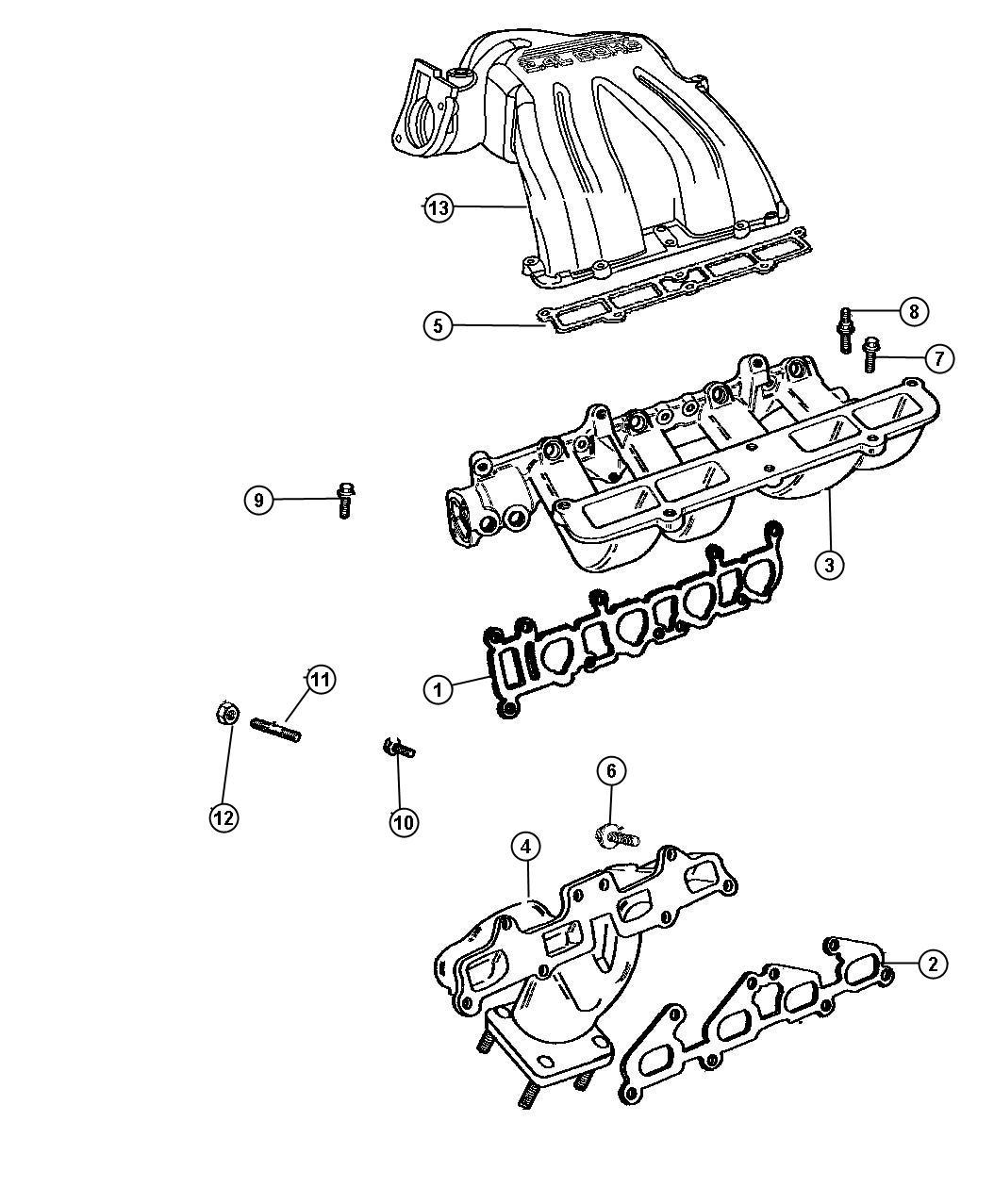 Dodge Caravan Manifolds Intake And Exhaust 2 4l 2