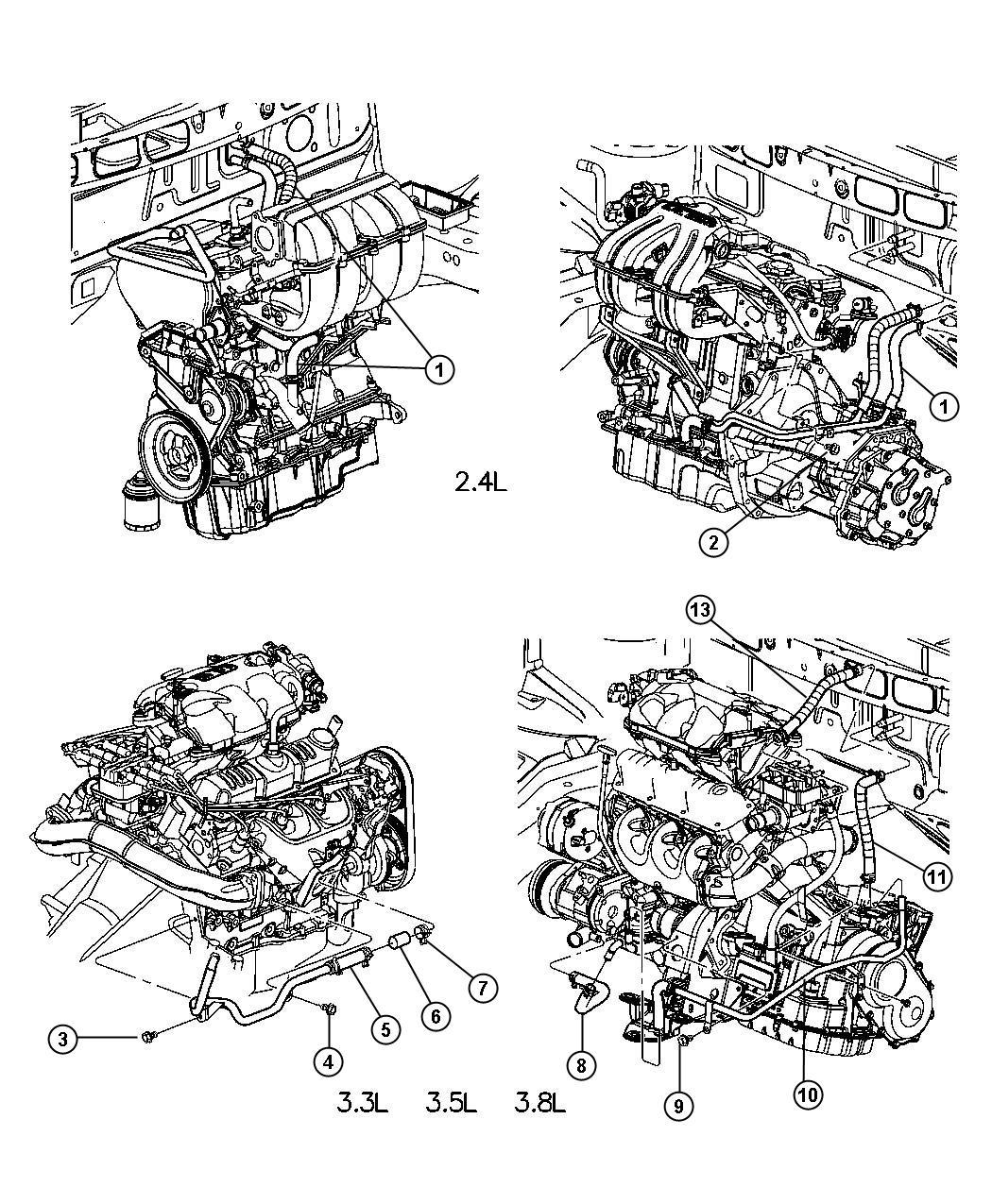 Chrysler Town Amp Country Plumbing Heater