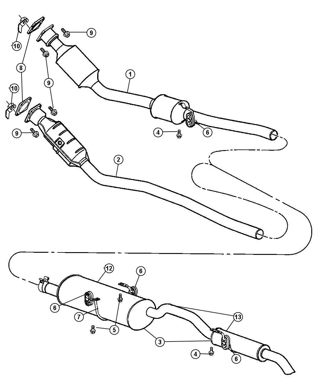 Chrysler Clamp Exhaust Crossunder