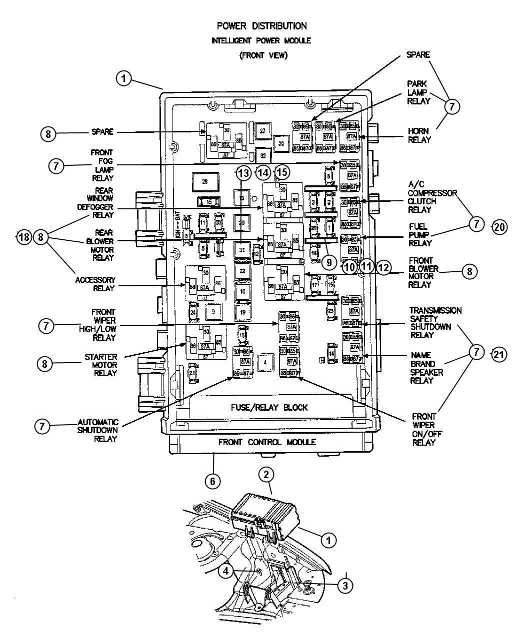 Dodge Nitro Cover Power Distribution Center Infinityfog