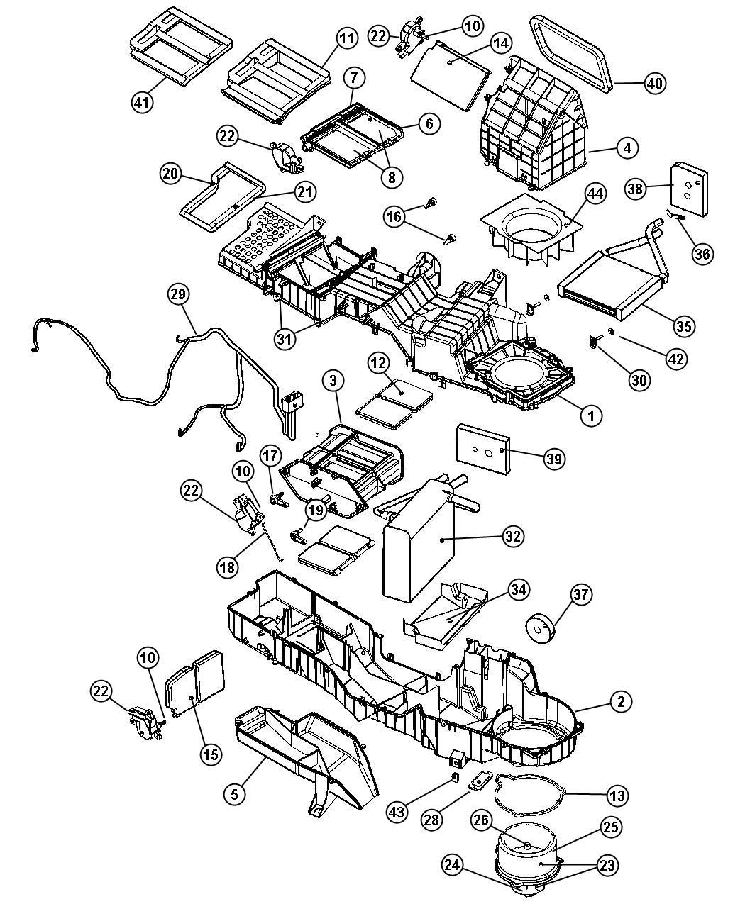 2000 dodge ram heater diagram