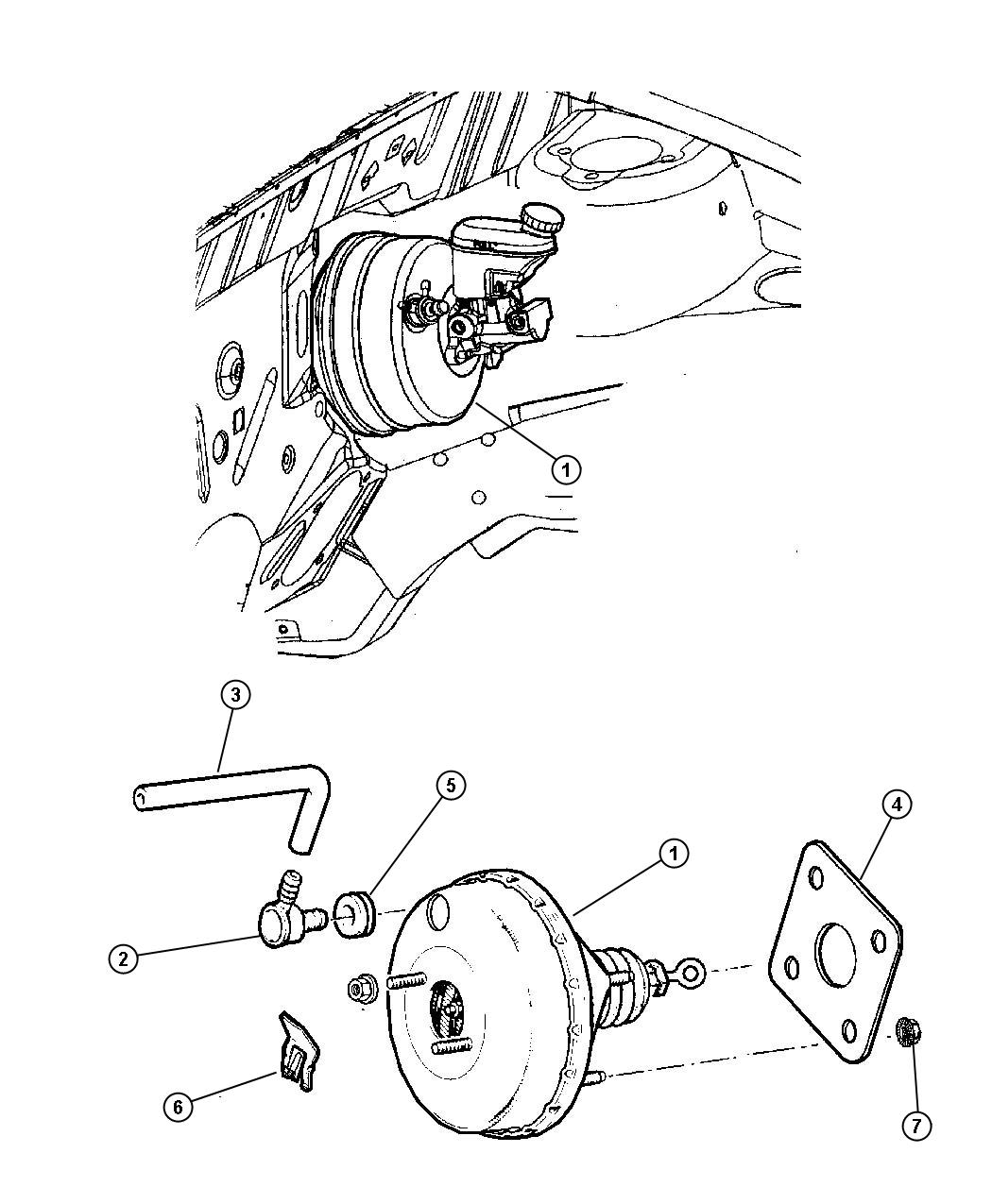 Chrysler Town Amp Country Booster Power Brake Up To 01 19