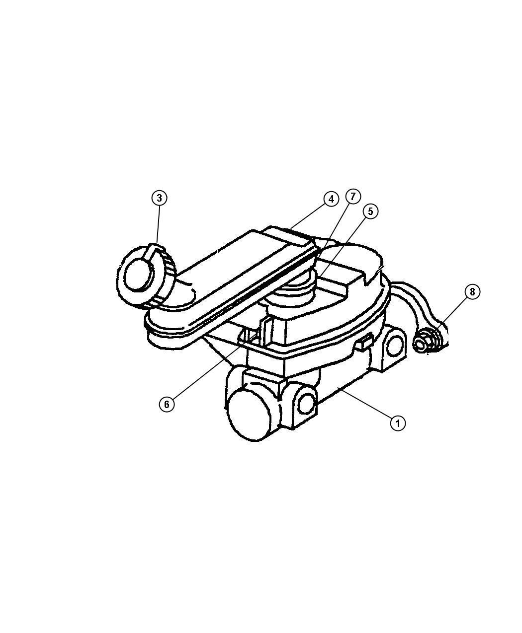 Dodge Ram Switch Brake Fluid Level Disctraction