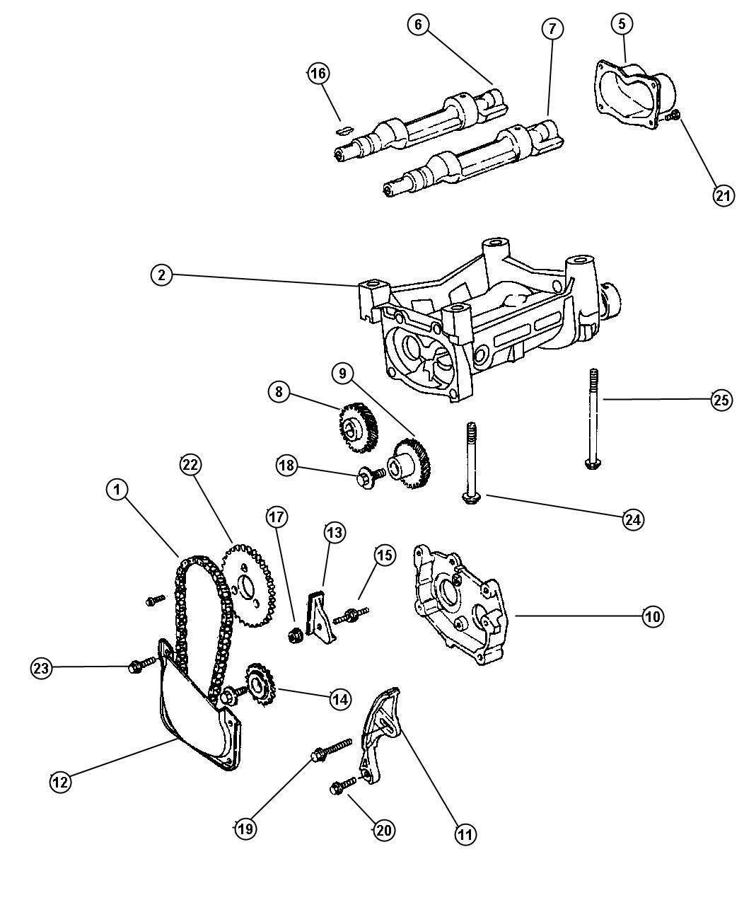 Chrysler Pt Cruiser Chain Balance Balance Shaft