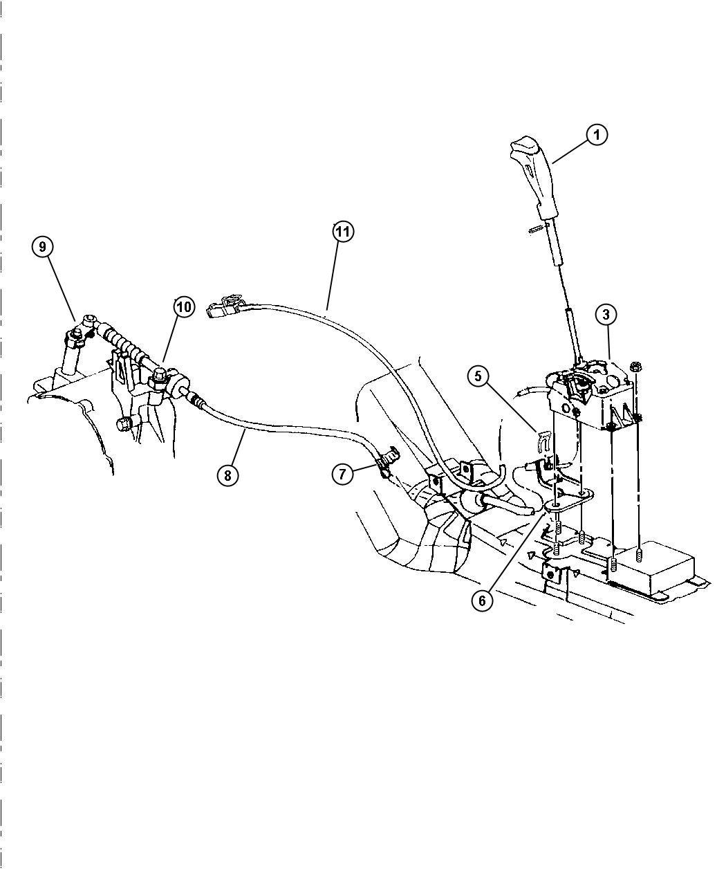 Dodge Stratus Clip Shift Cable