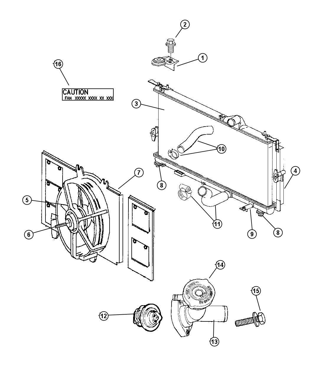 Dodge Neon Motor Radiator Fan