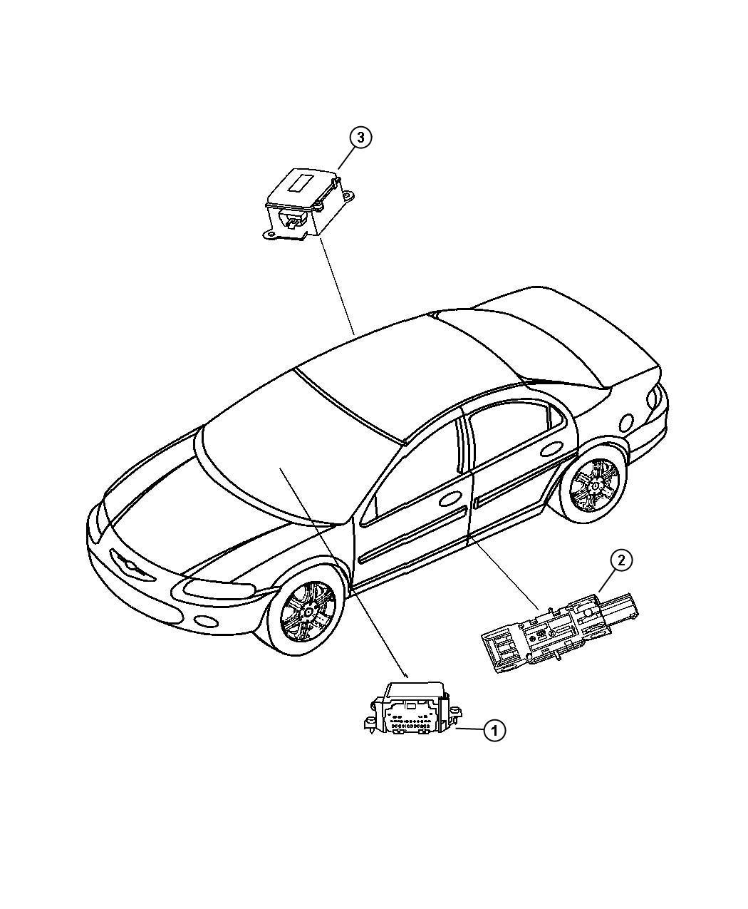 Chrysler Sebring Module Seat Belt Timer