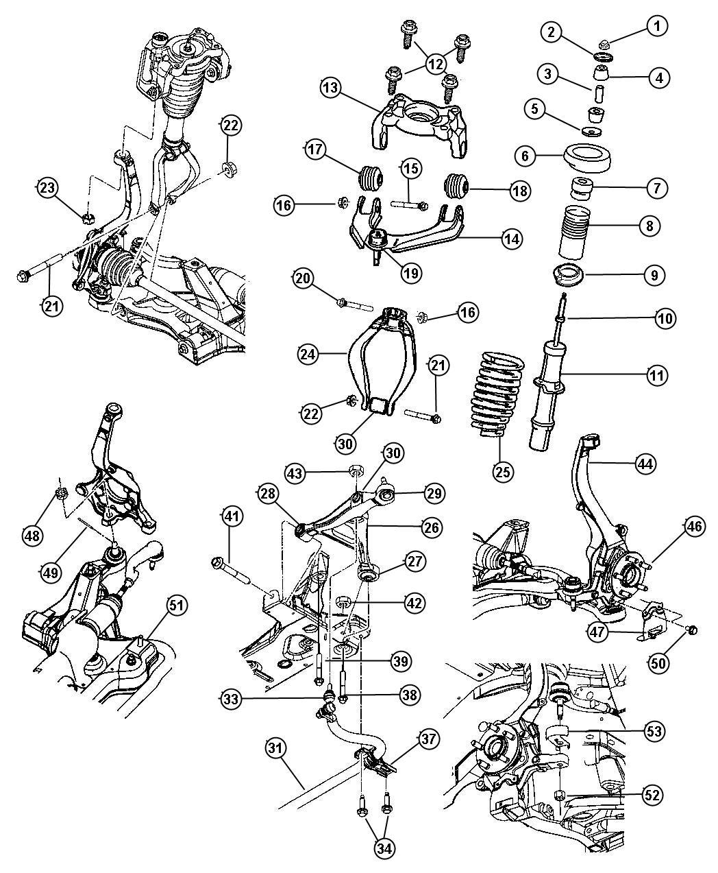 Dodge Stratus Bracket Shock Absorber Right