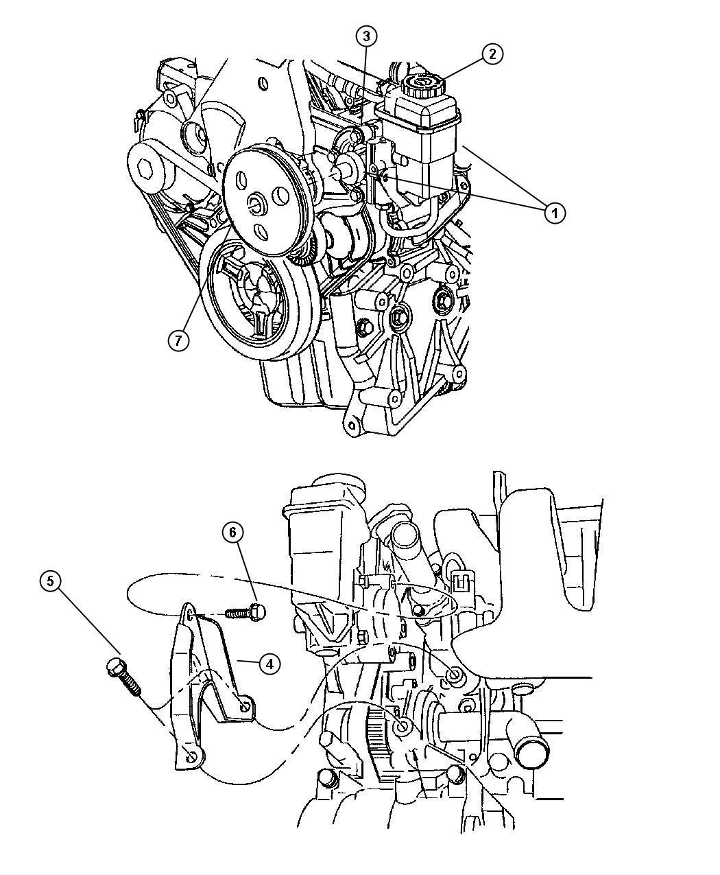 Dodge Neon Pump Power Steering With Reservoir Ech